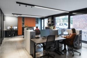 Acoustic walls, dividers and furniture for an acoustically comfortable open-plan office