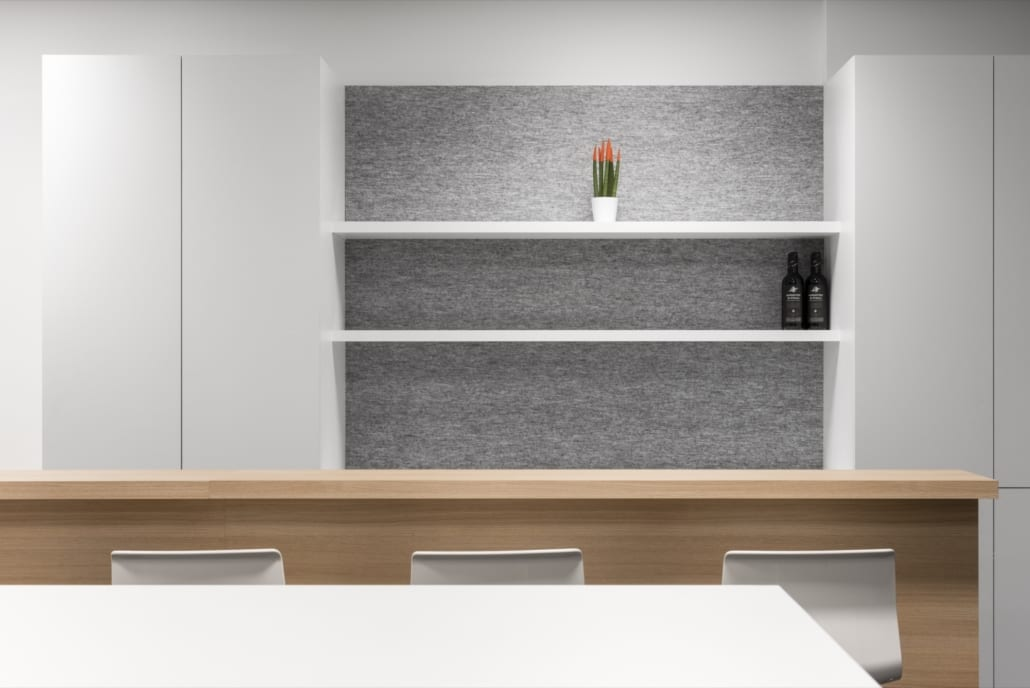 Acoustic wall panel for a bar in the Frigro office